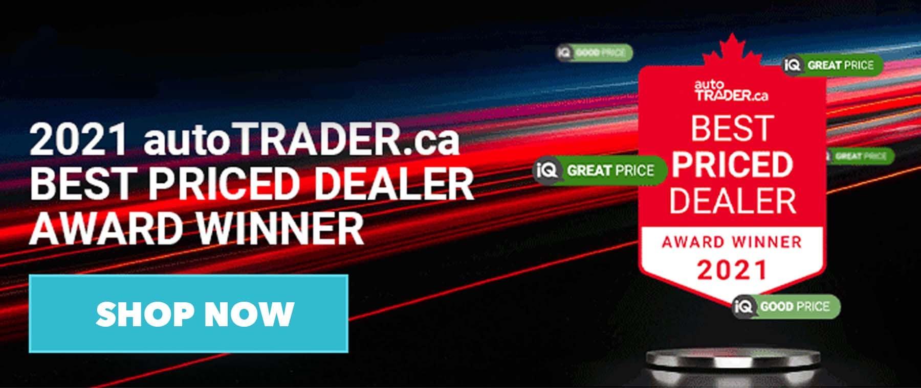Pickering Honda in Pickering Ontario is Auto Trader's Best Priced 2021 Dealer Award
