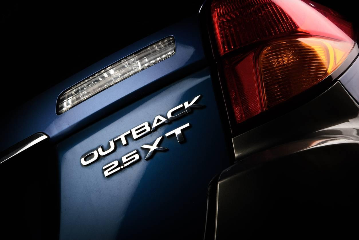 Subaru Outback exterior rear badging and tail light cluster