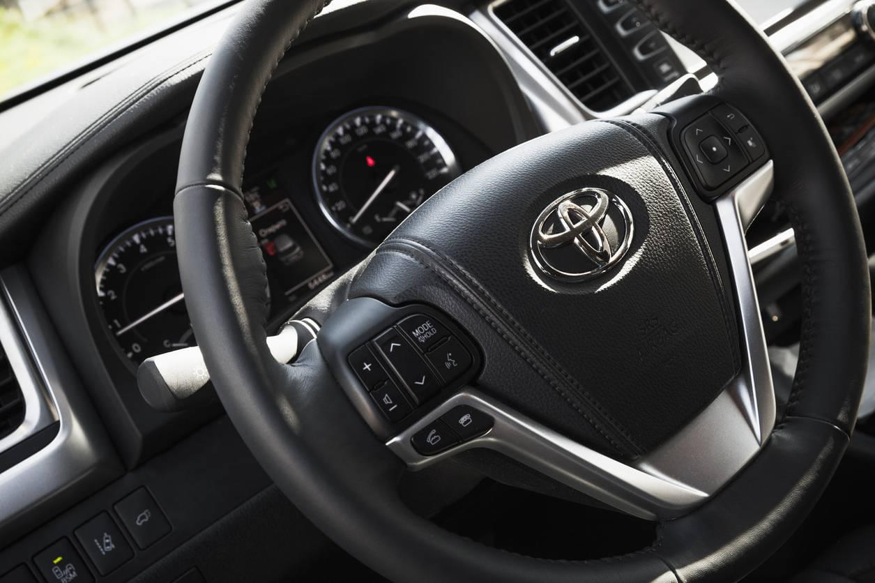 Interior of a Toyota Highlander