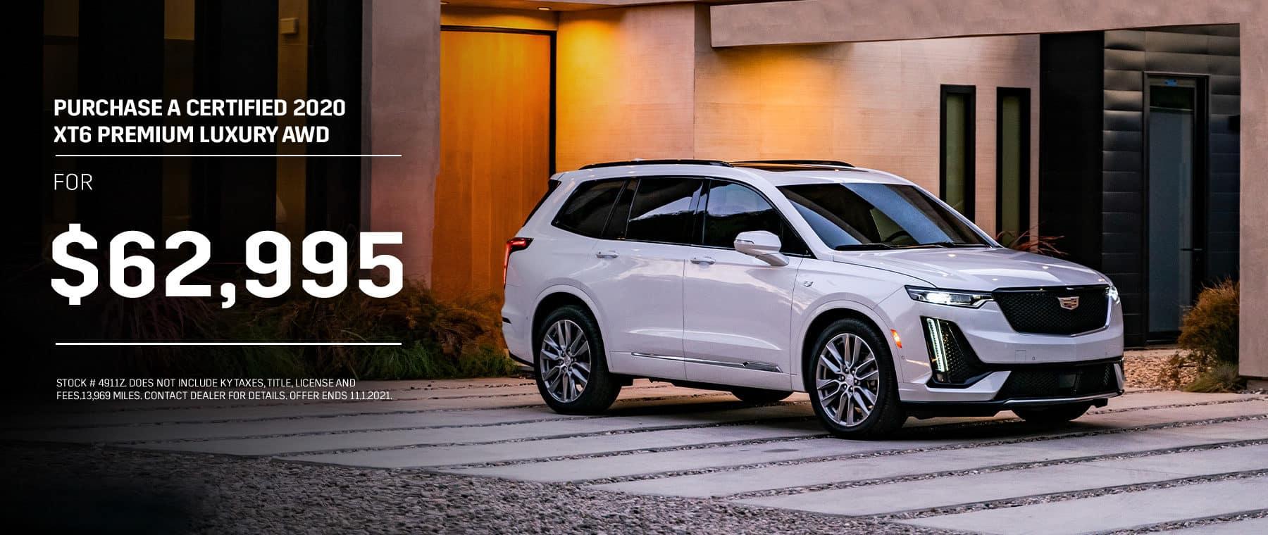 2020 XT6 Premium Luxury AWD For $62,995
