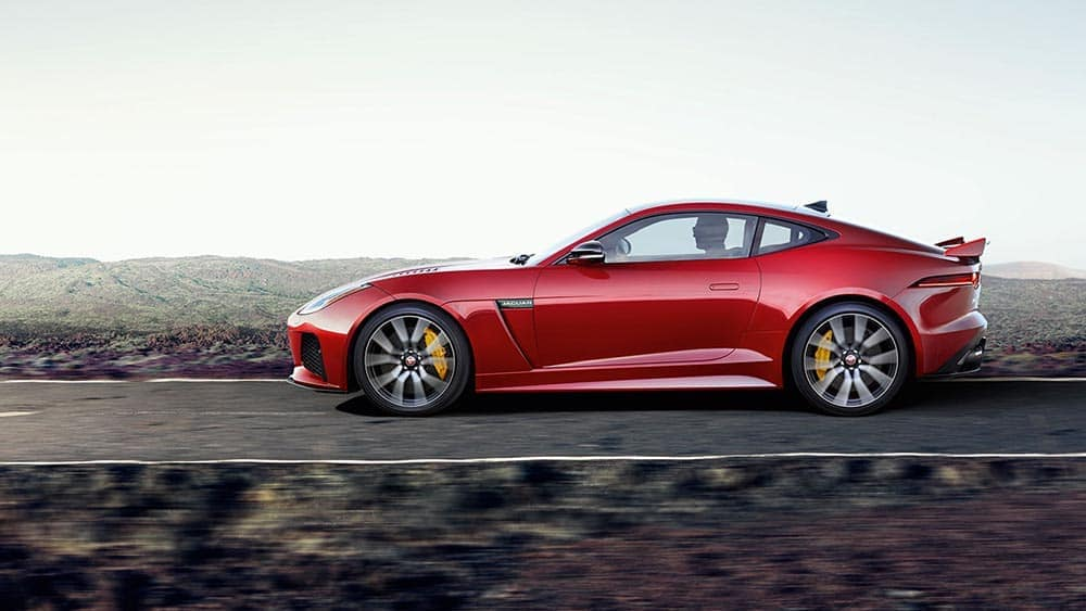 2019 jaguar f type svr in caldera red profile