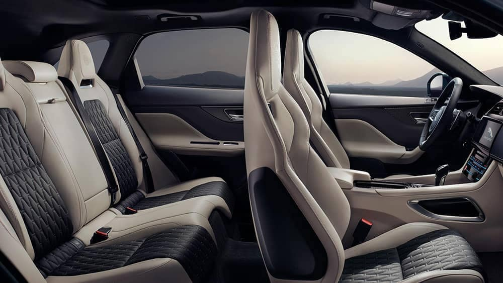 2019 Jaguar F-Pace Interior Black and Gray