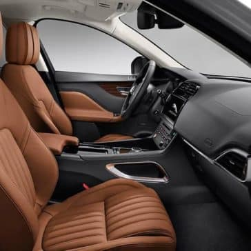 2019 Jaguar F-Pace Interior Black and Tan