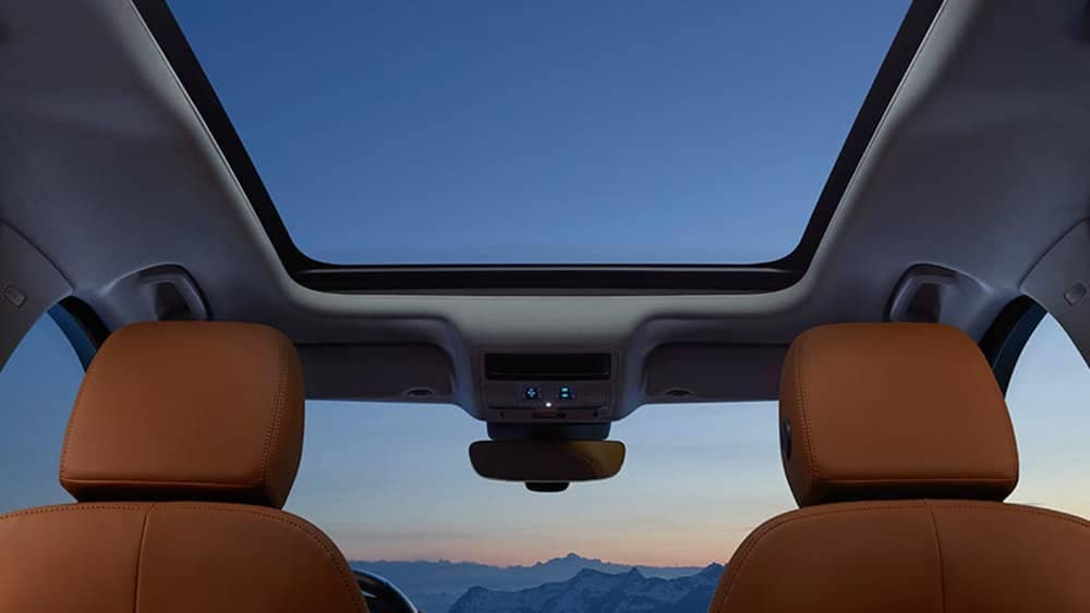 2019 Jaguar F-Pace Interior With Sunroof View