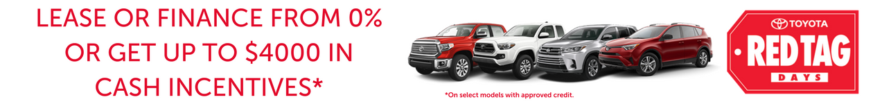 red tag days sale at red deer toyota