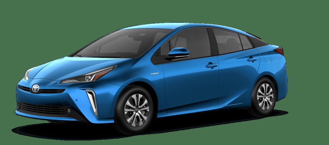 Blue Toyota Prius
