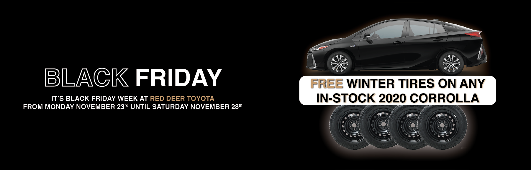 Black Friday Sale Free Winter Tires Prius