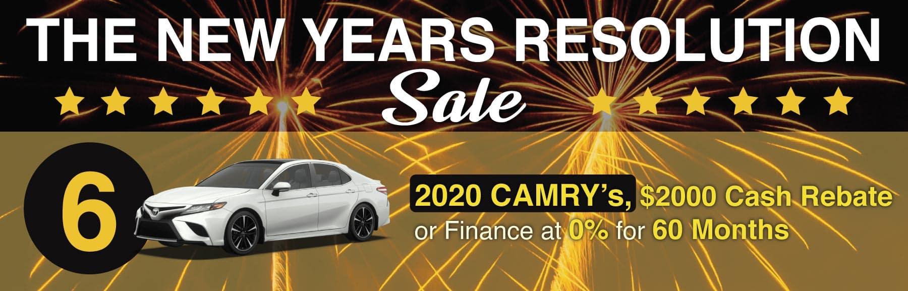 Camry January Sale