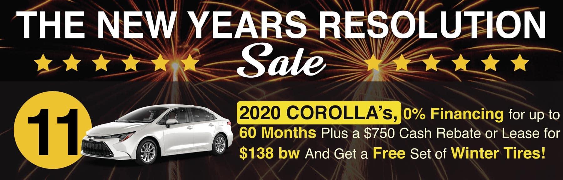 January Sale Corolla
