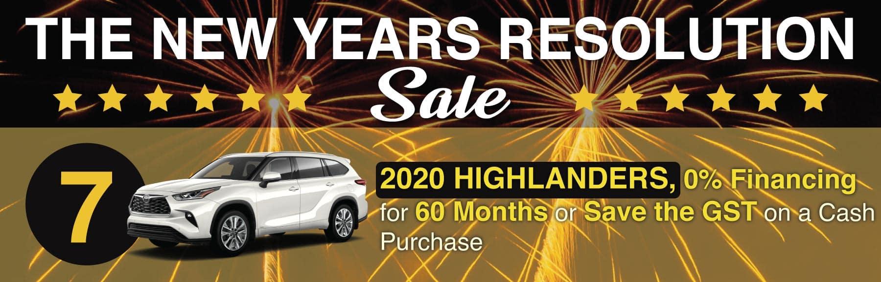 Highlander January Sale