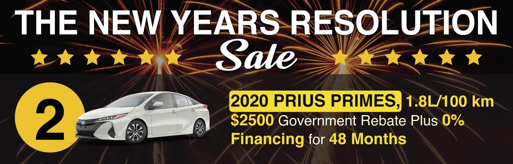 Prius January Sale