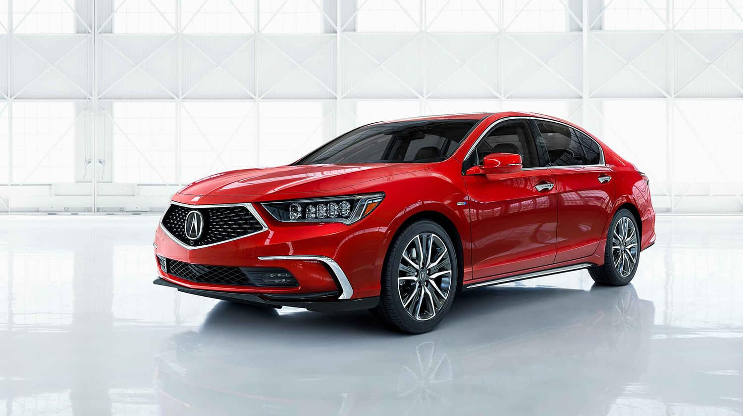 2018 Acura RLX Exterior Front Angle Driver Side Red