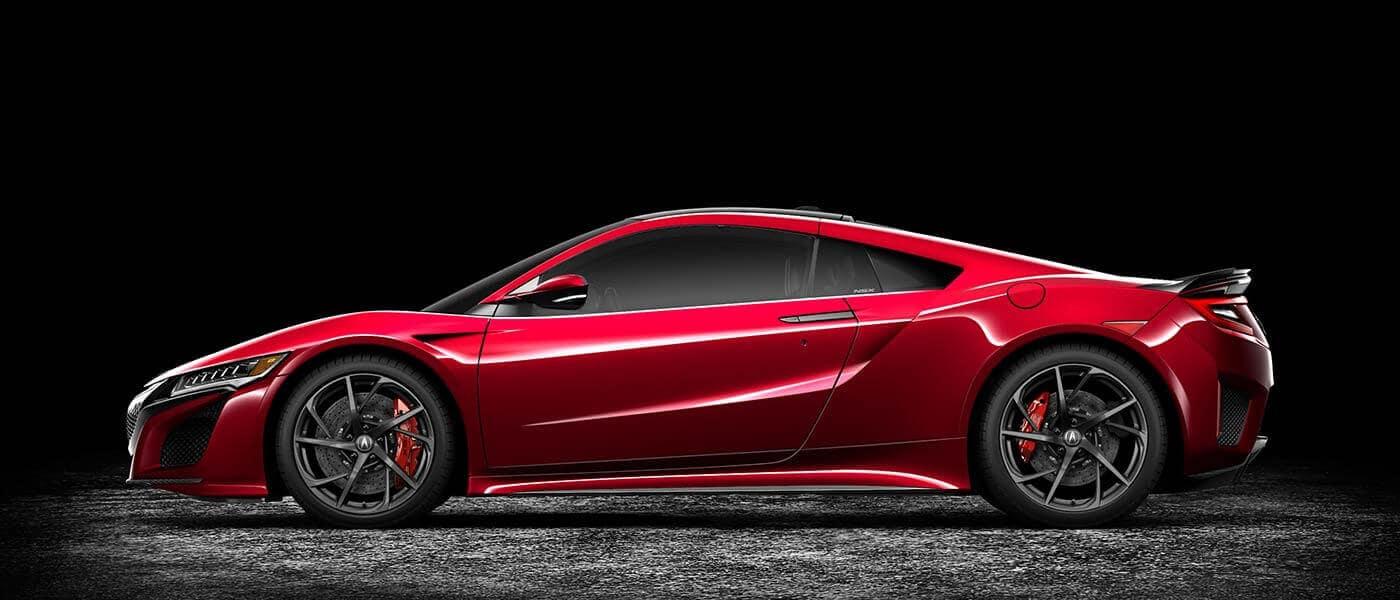 2018 Acura NSX Exterior Studio Side Profile Red