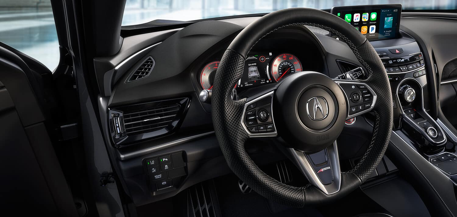 2019 Acura RDX Interior Steering Wheel Closeup