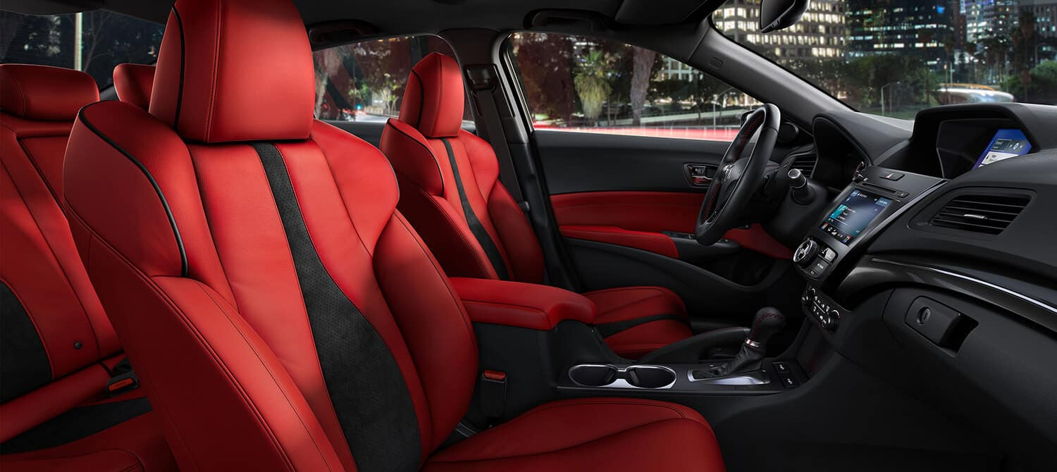 2019 Acura ILX Interior Red A-Spec Seats