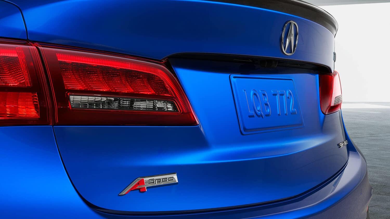 2020 Acura TLX Exterior Rear Angle A-Spec Badge Closeup