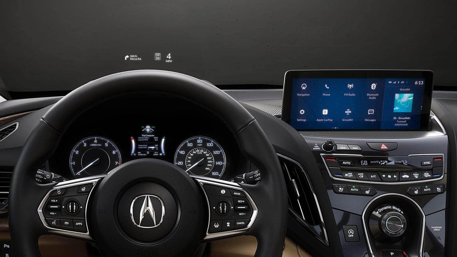 2020 Acura RDX Interior Head-Up Warning