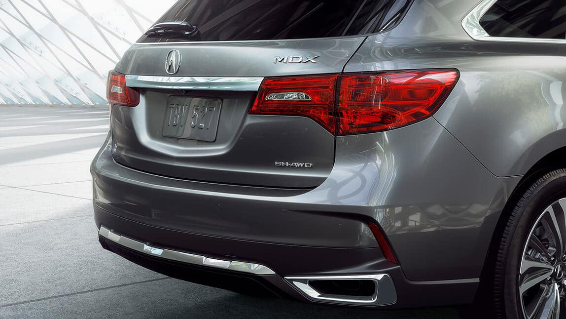 2020 Acura MDX Exterior Rear Angle Passenger Side Closeup