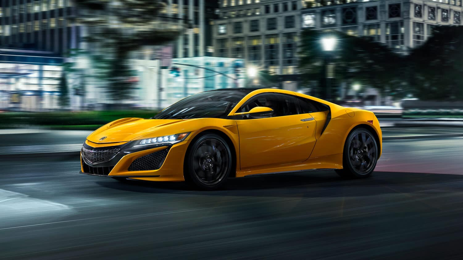 2020 Acura NSX Exterior Indy Yellow Pearl Side Angle