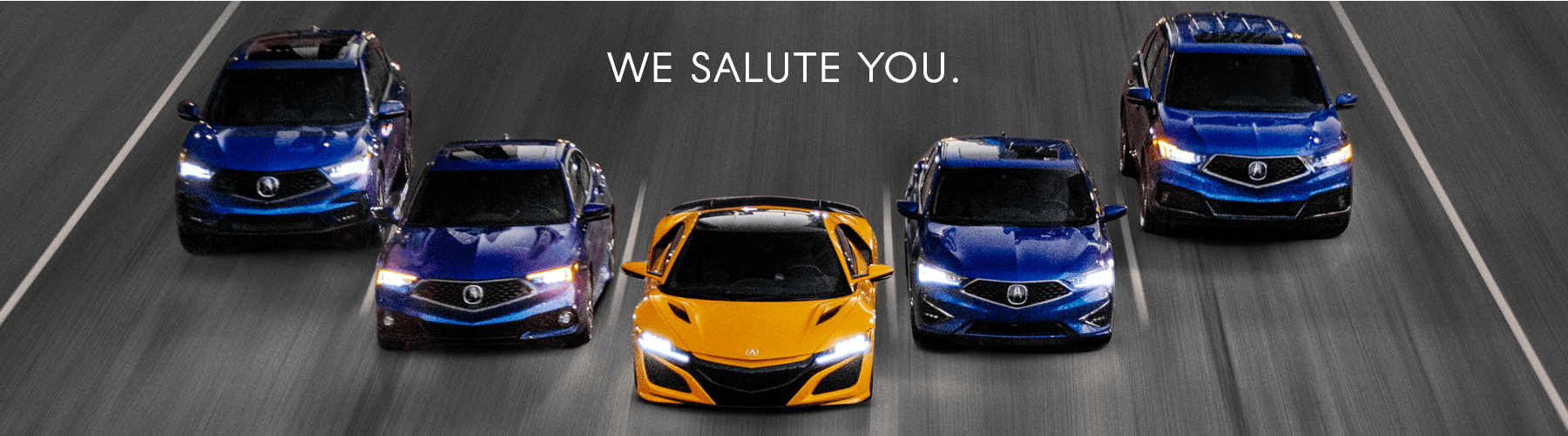 Acura Military Appreciation Offer We Salute You Banner