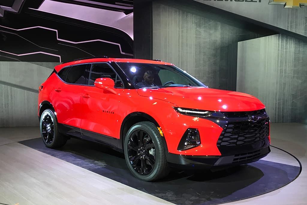 2019 Blazer vs Ford Explorer Exterior Red