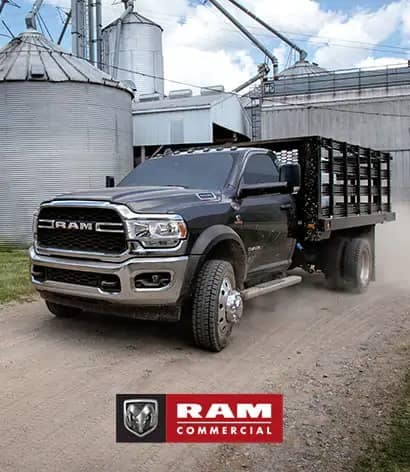 black ram chassis on gravel road