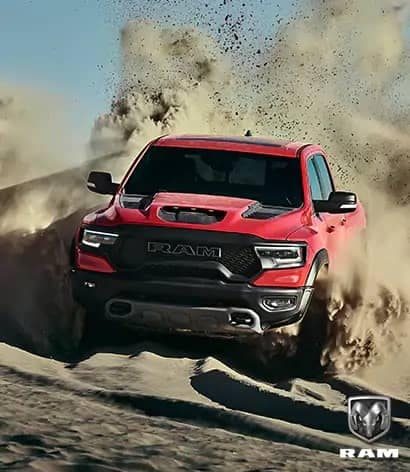 2021 Ram 1500 TRX driving in sand