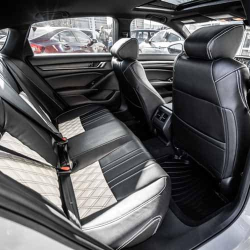 Black & White custom leather seat