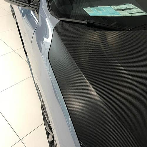 Carbon Fiber Hood Wrap on Honda Civic