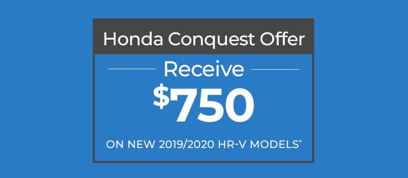 $750 HR-V Conquest Offer