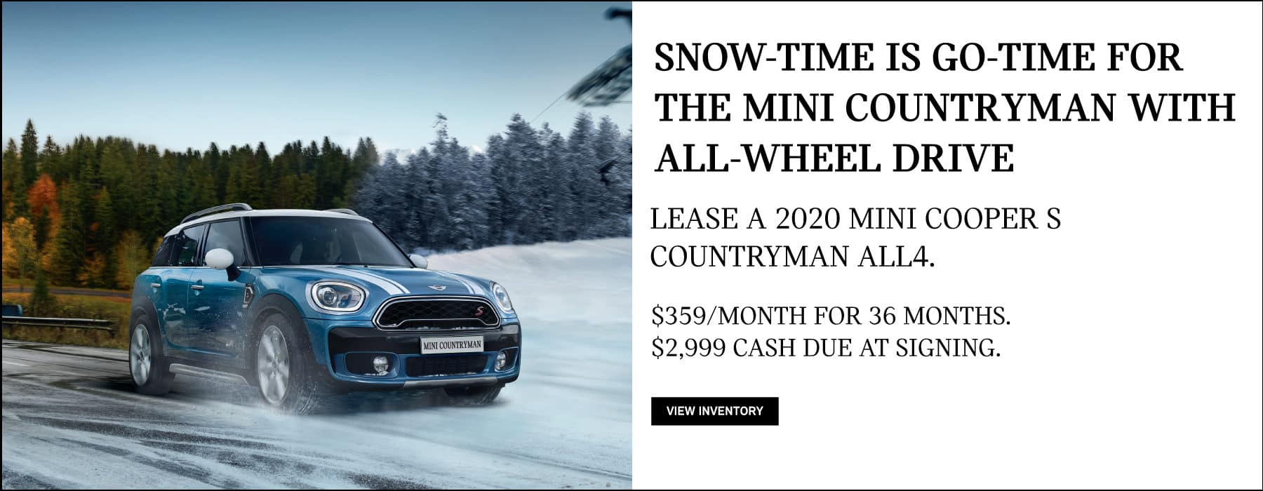 Lease a 2020 MINI Cooper S Countryman for $359/mo. View Inventory