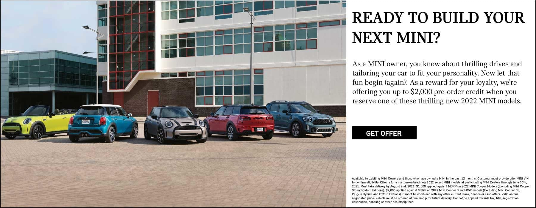 Reay for your next MINI? Get deal with MINI Loyalty.