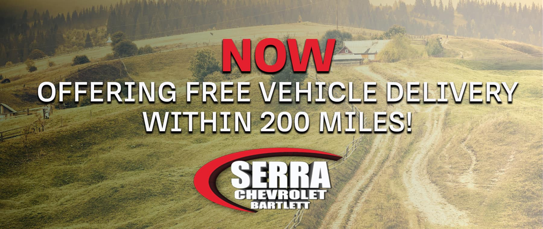 Free Vehicle Delivery Within 200 Miles!