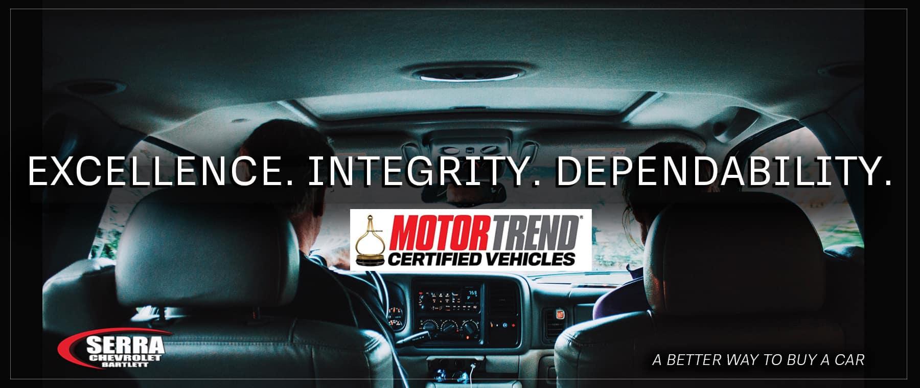 Motortrend Certified Vehicles at Serra Chevrolet Bartlett