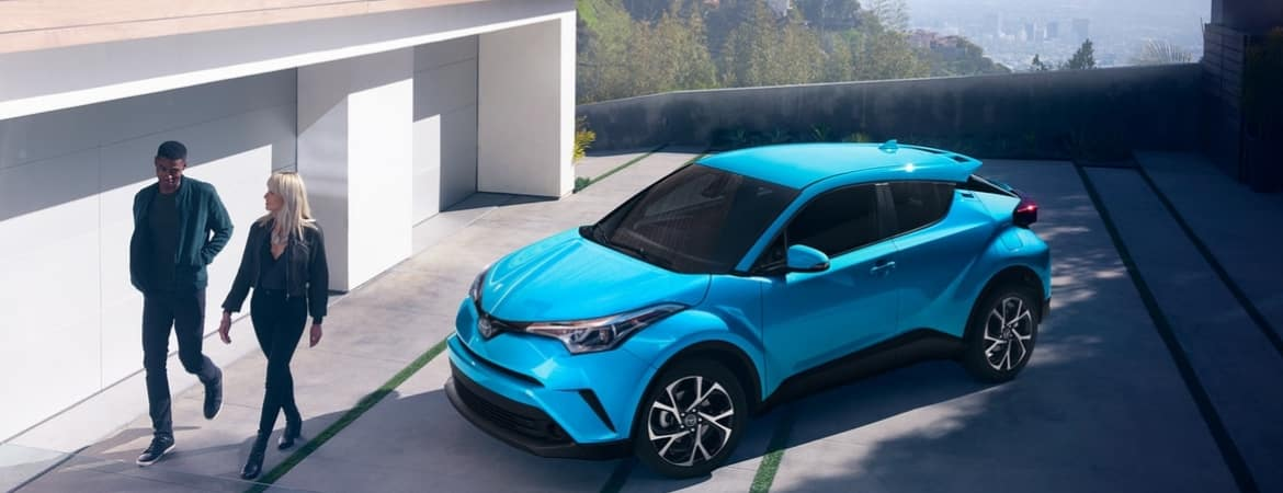 2019 toyota c-hr parked in driveway