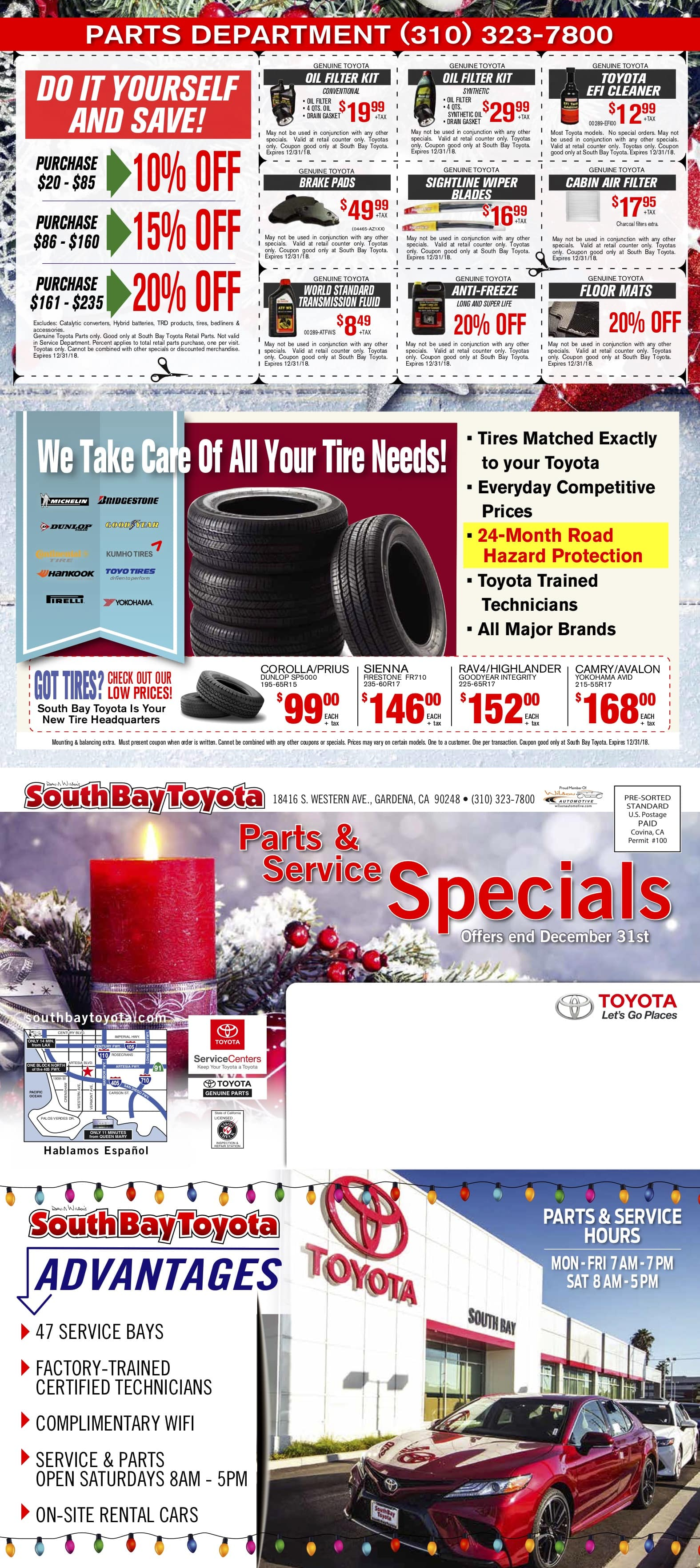 Toyota Service Coupons in Gardena, CA