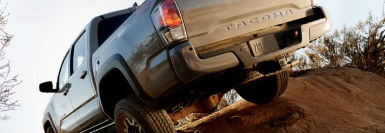 2020 Toyota Tacoma going over dirt hill
