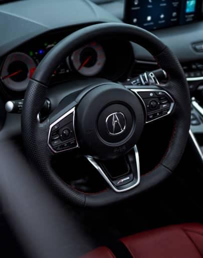 Interior of an Acura