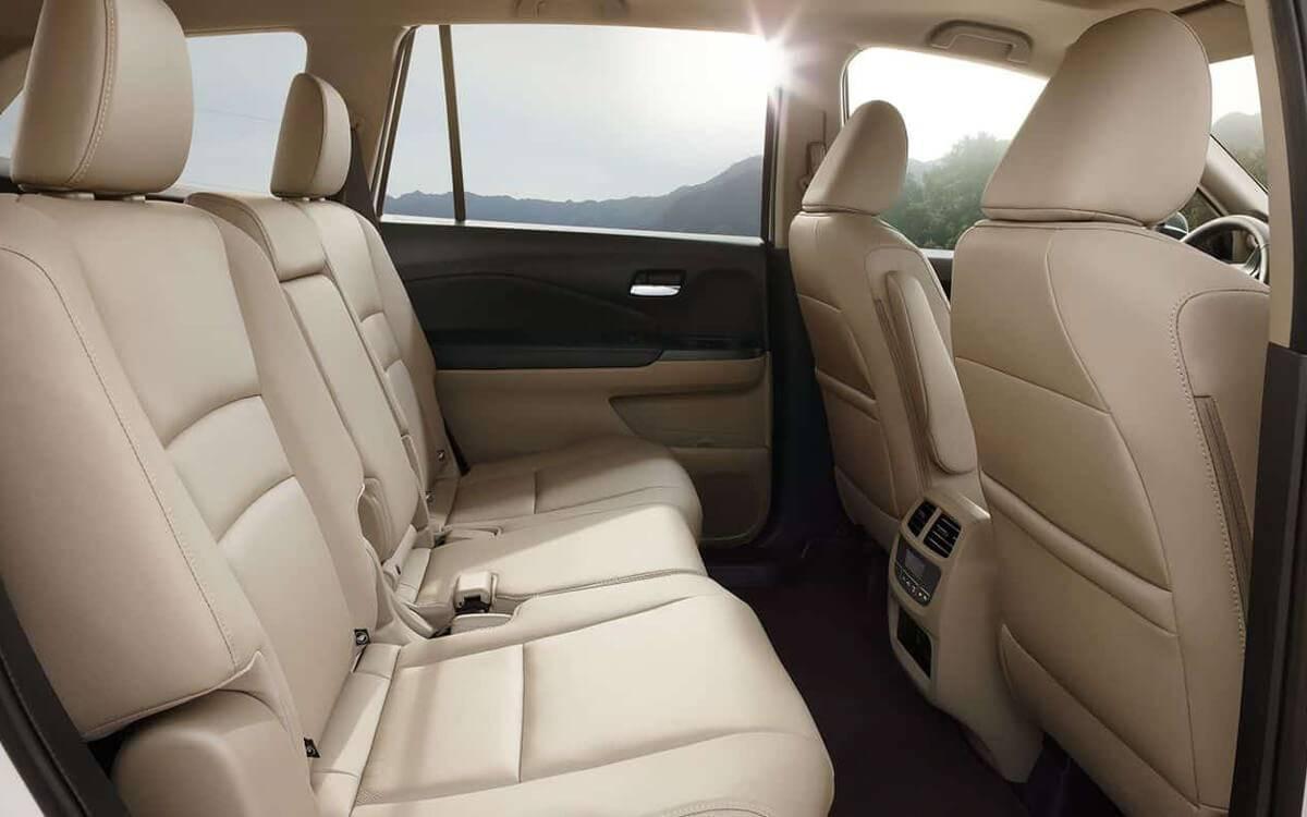 Honda Pilot leather seating