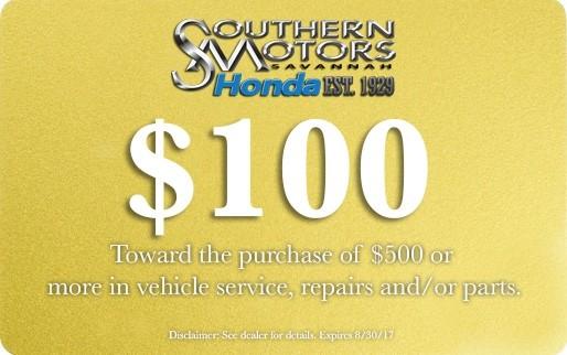 Auto Service Specials Hilton Head Island Southern Motors Honda