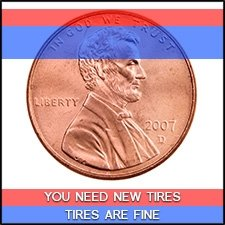 New Tire Penny Test