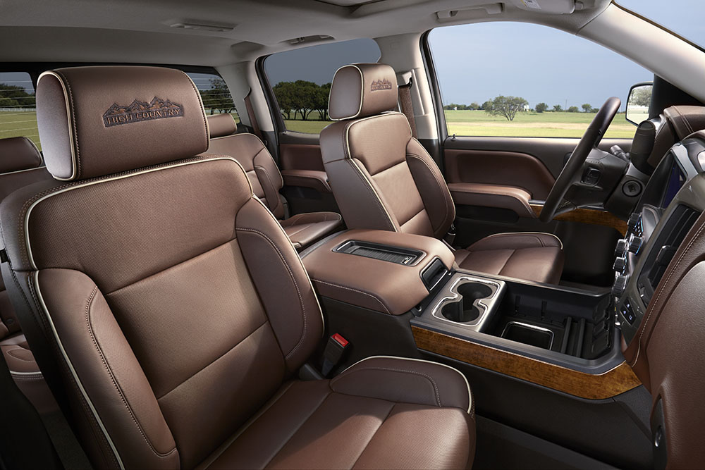 2017 Chevy Silverado1500 LTZ Interior seats