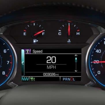 Instrument panel of the Chevy Malibu