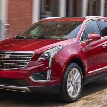 red exterior of 2018 Cadillac XT5