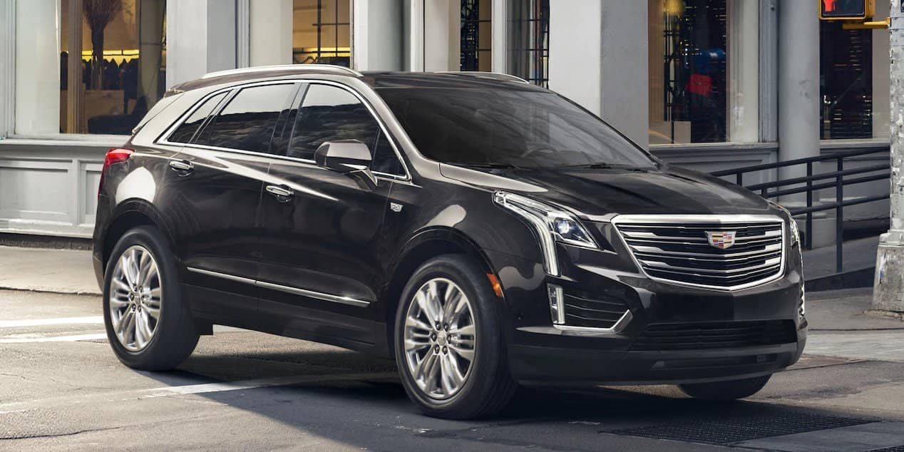 black exterior of 2018 Cadillac XT5