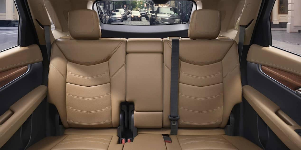 back seats of 2018 cadillac XT5