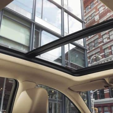 sunroof of 2018 Cadillac XT5