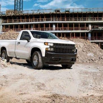 2019 Chevrolet Silverado Work Truck on construction site