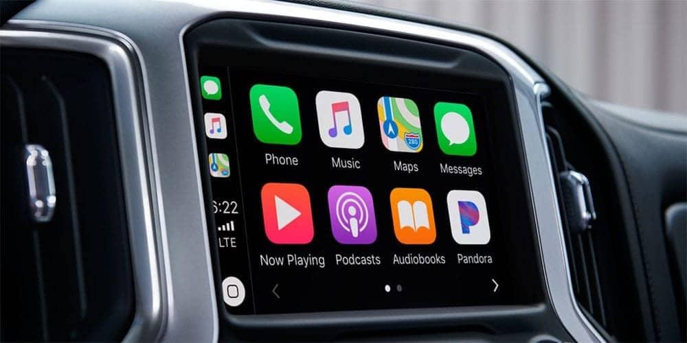 infotainment screen in 2019 Chevrolet Silverado