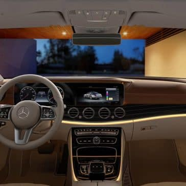 interior dashboard of 2019 Mercedes-Benz E-Class